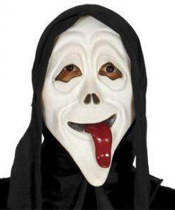 careta scream lengua con capucha