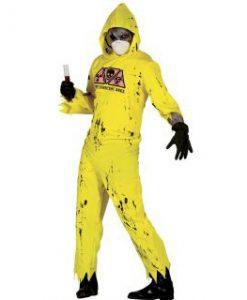 disfraz de zombie radioactivo