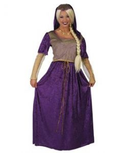 Disfraz de Dama Medieval Violeta