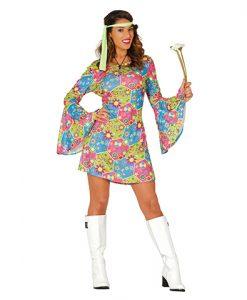 Disfraz Hippie Flower Power mujer