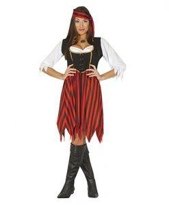 Disfraz pirata ultramar para mujer