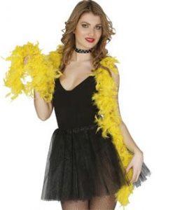 Boa plumas amarilla