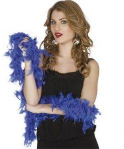 Boa plumas azul