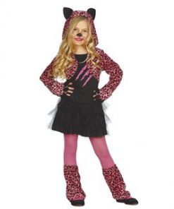 Disfraz leopardo rosa