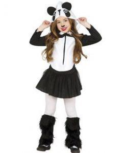 Disfraz de osa panda para niña