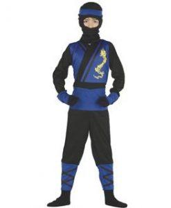 Disfraz de ninja azul infantil
