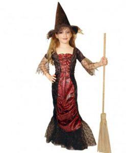 disfraz bruja medieval niña