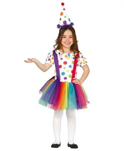 Disfraz payasita fiesta niña