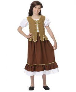 Disfraz de tabernera para niña