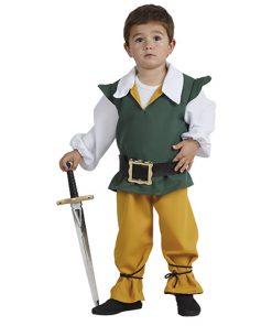 Disfraz de escudero medieval para niño