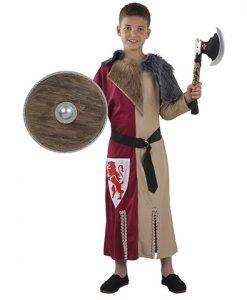 Disfraz de guerrero medieval para niño