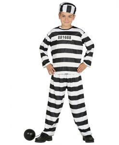 Disfraz de presidiario para niño