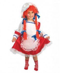 disfraz de muñeca de trapo para niña