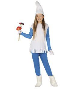 disfraz de pitufa para niña