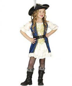 Disfraz de capitana pirata para niña