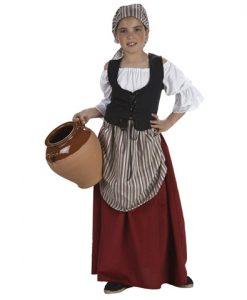 mesonera disfraz medieval niña