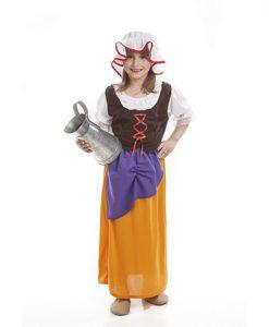 Disfraz de mesonera medieval para niña