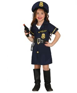 Disfraz policía niña
