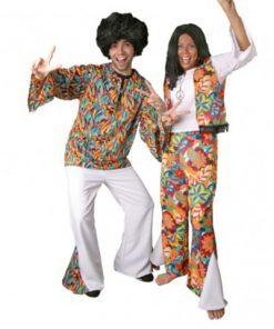 disfraz de hippie cool con peluca