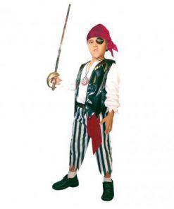 disfraz de pirata medallón para niño