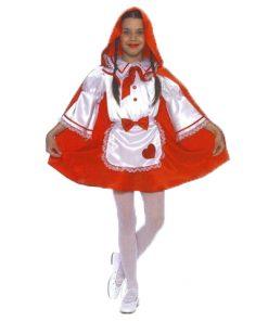 disfraz de Caperucita corazón para niña
