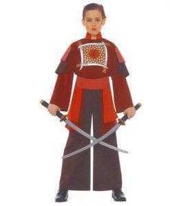 Disfraz de samurai para niño