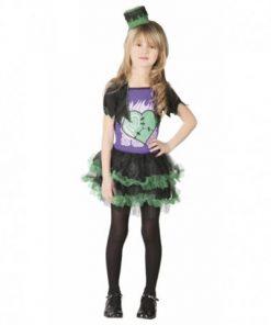 Disfraz de mini Frankenstein para niña