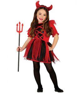 Disfraz de diablesa con tutú para niña