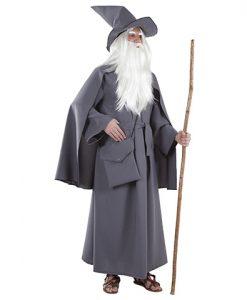 Disfraz de mago gris para adulto