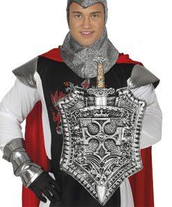 escudo con espada de caballero