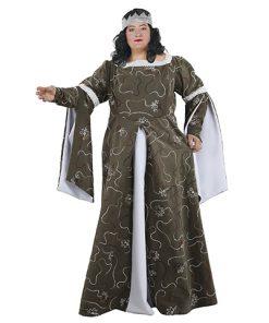 disfraz de dama medieval xxl