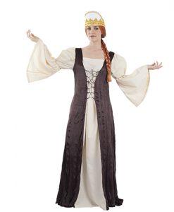 Disfraz de reina medieval para adulto