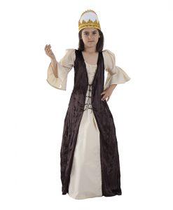 disfraz de princesa medieval infantil