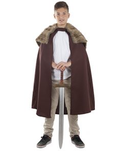 capa medieval para niño