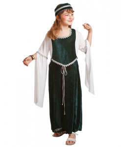 Disfraz de dama medieval niña