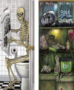 Cubrepuerta Halloween