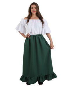falda medieval verde