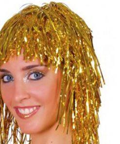 Peluca metalizada dorada