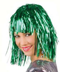 Peluca metalizada verde