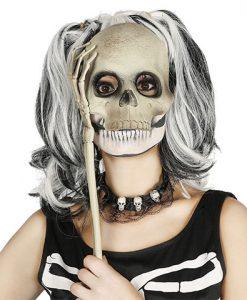 Media máscara de calavera con brazo
