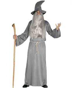 Disfraz de mago gris