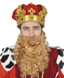 Barba rubia pelo rizado