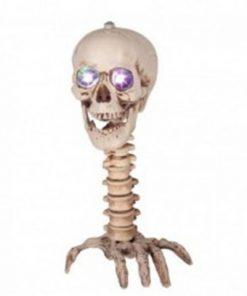 Esqueleto deforme con luz