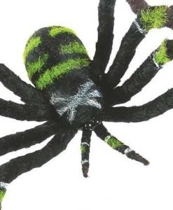Decoración Halloween araña verde