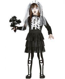 Disfraz esqueleto niña Skeleton bride