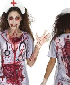 camiseta de zombie mujer