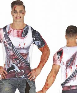 Camiseta de zombie hombre