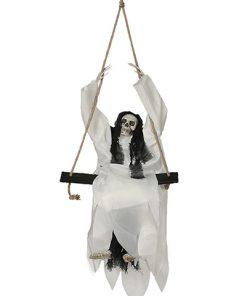 Colgante esqueleto en columpio