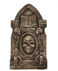 lápida RIP marrón