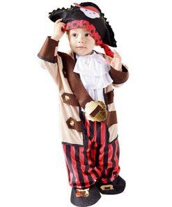 Disfraz pirata intrepido para bebé